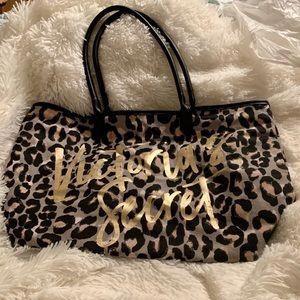Victoria's Secret large leopard print tote bag